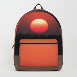 Really red sun Backpack