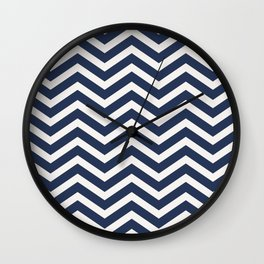 Nautical chevron pattern Wall Clock