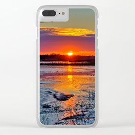 Reflective Evenings Clear iPhone Case