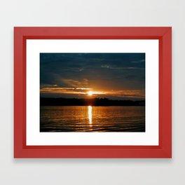 Sunrise on Lake Oconee Framed Art Print