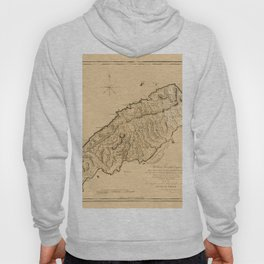 Map Of Tobago 1776 Hoody