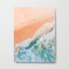 A Shadow on the beach Metal Print