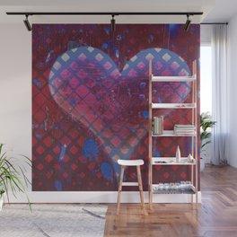 Heart Beat Soul Pop Art Graffiti Wall Mural