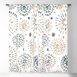 Abstract watercolor sparkles – neutral Blackout Curtain