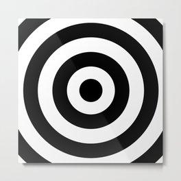 Target (Black & White Pattern) Metal Print