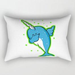 Narwhale Dabbing Rectangular Pillow