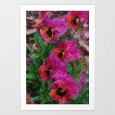 Pansies Painting Art Print