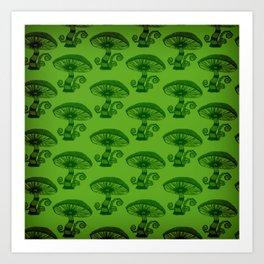 """""""Mushrooms in the Garden"""" Wonderland Style Design by Dark Decors Art Print"""