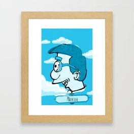 Milhouse in Blue  Framed Art Print