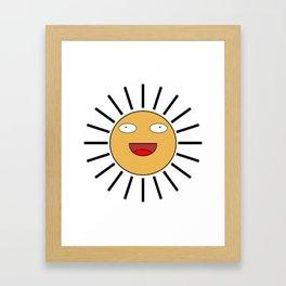 Sun Face Framed Art Print
