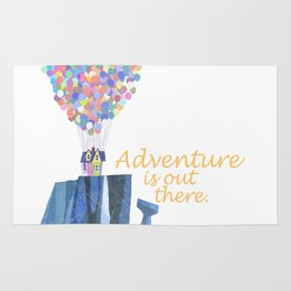 adventure is out there.. cursive Rug