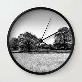 The Farm Sketch Wall Clock