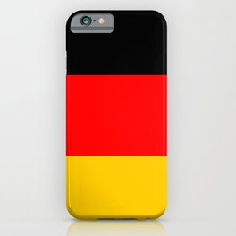 Black Red and Yellow German Flag iPhone Case