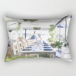 Lunch By The Water Rectangular Pillow