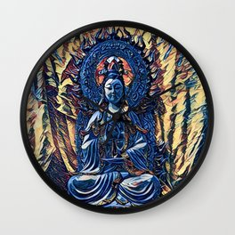 Glass temple of Marcy  Wall Clock