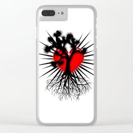 Joshua Tree Heart of the Hi Desert by CEYES Clear iPhone Case