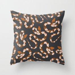 Garden Snake Throw Pillow