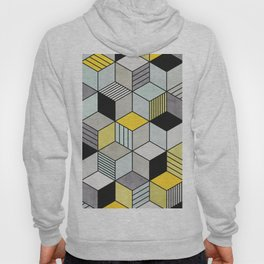 Colorful Concrete Cubes 2 - Yellow, Blue, Grey Hoody