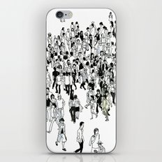 Shibuya Street Crossing Crowd iPhone & iPod Skin