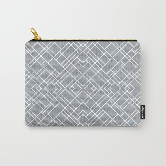 Map Outline 45 Grey Repeat Carry-All Pouch