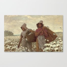 The Cotton Pickers by Winslow Homer, 1876 Canvas Print