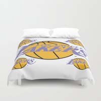lakers Duvet Covers featuring Lakers by Dexter Gornez