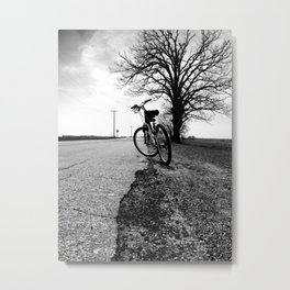 Biking with a Wise Oak Metal Print
