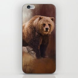 Great Strength - Grizzly Bear Art iPhone Skin