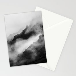 Foggy Mountains Black and White Stationery Cards