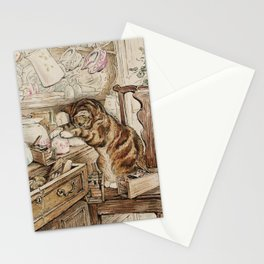 Tom Kitten looking for mice Stationery Cards