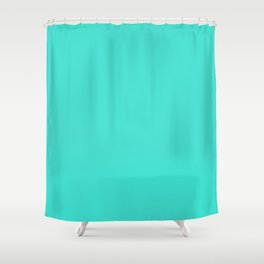 #40E0D0 Turquoise Shower Curtain