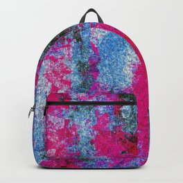 vintage psychedelic painting texture abstract in pink and blue with noise and grain Backpack