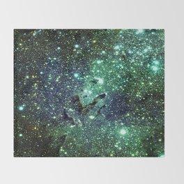 Green Eagle Nebula / Pillars of Creation Throw Blanket