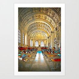 Bates Hall, Boston Public Library, Boston, USA Art Print