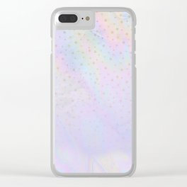 Holographic stars Clear iPhone Case