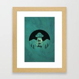 """Take Me Away"" UFO (Colour) Framed Art Print"