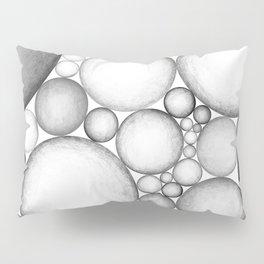 OBLIVIOUS SPHERES BLACK AND WHITE Pillow Sham
