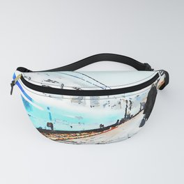 Agropoli: woman in rail station Fanny Pack