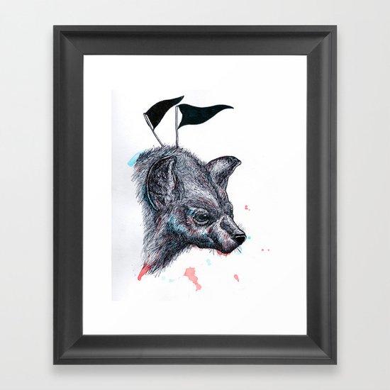 Wolf?Hyena? Framed Art Print