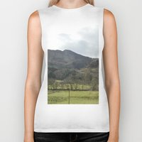 scotland Biker Tanks featuring Scotland Countryside by Ashley Callan