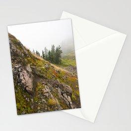 Fog Mist Misty Forest Ombre Rocks Mountain Geology Northwest Washington Outdoors Stationery Cards