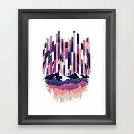 Sunrise in Vertical - Winter Purple Framed Art Print