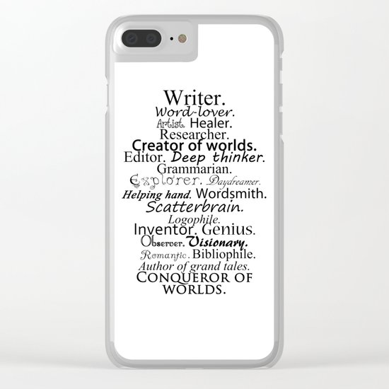 Writer Clear iPhone Case