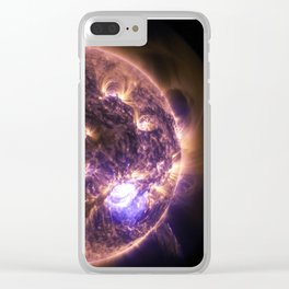 Sun with Solar Flares Clear iPhone Case