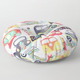 Travel Back in Time Floor Pillow