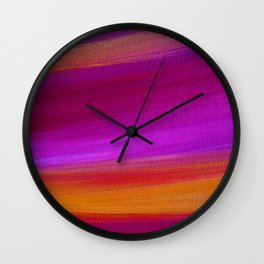 PURPLE AURORA - Abstract Sky Oil Painting Wall Clock