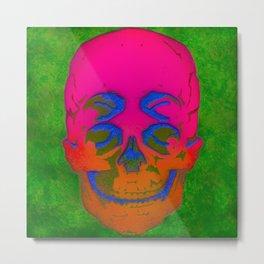 the 4i skull stencil art - 3D Metal Print