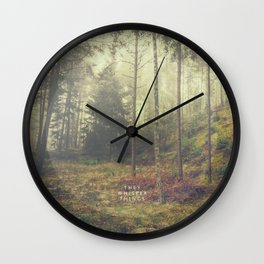 They whisper things Wall Clock