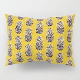 Pineapple on Mustard yellow , metallic effect Pillow Sham