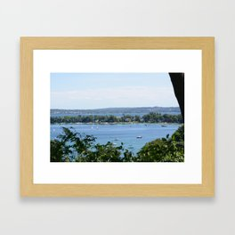 Harbor Springs Bay, View from Bluff (2) Framed Art Print